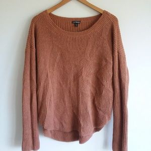 Express Slouchy Sweater in Clay